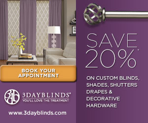 3 Day Blinds Save 20%